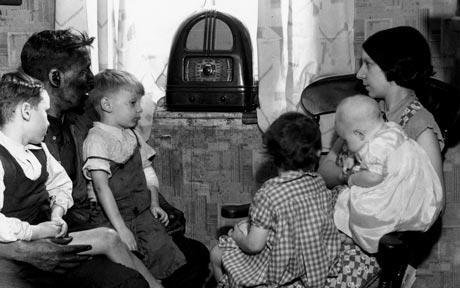 listening to the radio during great depression
